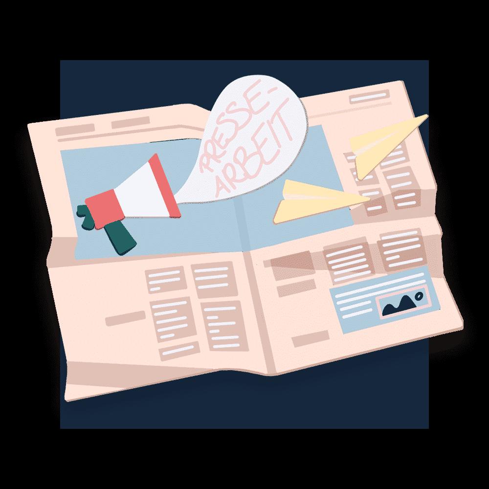 Pressemitteilungen, Aufbau eines Presseverteilers und Trainings: Wir wissen, wie die Presse tickt und helfen Unternehmen, dies für sich zu nutzen.